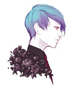 flowerman ||| Tsukiyama Shuu ||| Tokyo Ghoul Fan Art by zombeezle