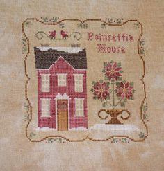 little house needleworks poinsettia house