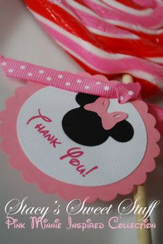 www.stacyssweetstuff.etsy.com..favor tags, in red, pink, zebra or Mickey