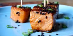 These tasty teriyaki salmon bites will disappear quickly at party, or serve with steamed vegetables for a delicious lunch or dinner.