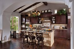 Toll Brothers The La Jolla Kitchen. Masterfully combining old world charm with high tech convenience.