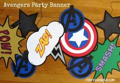 Avengers-Party-Banner-Decoration-Ideas