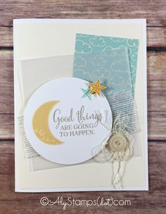 Baby Card using Stampin' Up! Stamp Sets Pictogram Punches and You've Got This.