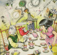 """""""Alice in Wonderland"""" by Anastasia Arushanova (Mad Hatter, March Hare, Tea party)"""