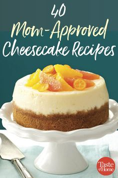 Looking for the best cheesecake recipe? Here's a round up of cheesecake recipes from Taste of Home moms across the country. How To Make Cheesecake, Best Cheesecake, Pumpkin Cheesecake, Cranberry Cheesecake, Chocolate Cheesecake Recipes, Chocolate Pastry, Homemade Chocolate, Flan, Best Food Ever