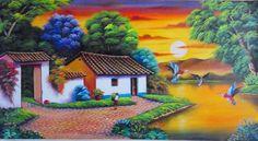 cuadros de bellos pueblitos gabriel nieto serie de paisajes ...