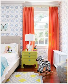 Love the curtains but in teal or green. May get rid of the horizontal blinds in Reagan's room and put curtains up. Hmmmmmm.....