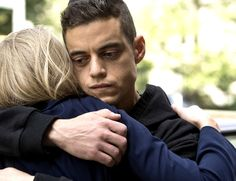 Rami Malek as Elliot Alderson and Portia Doubleday as Angela in Mr. Robot | USA Network