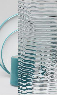 Decorative Cabinet Glass - Clear Tidal