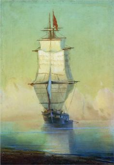""" Art painting wonderful by Ivan Aivazovsky 1817 - 1900 Ship .Корабль art-and-dream: "" Antoine Laurent, Nautical Art, Sailboat Art, Sailboats, Pierre Auguste Renoir, Tall Ships, Henri Matisse, Artist Art, Claude Monet"
