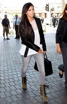 Kim Kardashian - Kim Kardashian Arriving For A Flight At LAX