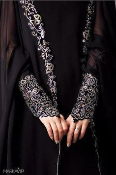 Black embroided sleeves