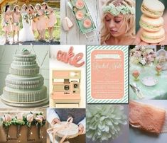 Peach & Mint wedding ideas