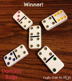 Domino Bugs by Coffee With Us 3 / A brand new domino game for kids Preschool Activities, Activities For Kids, Math Card Games, Action Research, Addition Games, Apples To Apples Game, Pediatric Ot, Games Box, Games For Toddlers