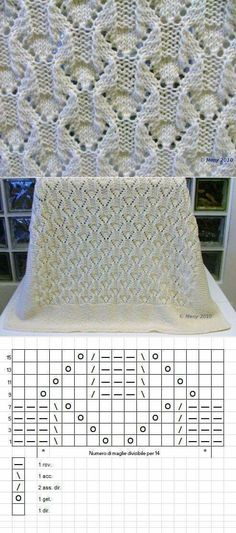 New crochet lace pattern stitches baby blankets 49 ideas Lace Knitting Patterns, Knitting Stitches, Stitch Patterns, Pull Crochet, Crochet Lace, Knitted Baby Blankets, Easy Knitting, Baby Patterns, Simple Pattern