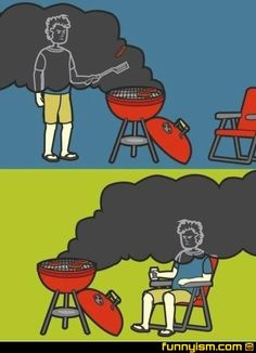 Friday: Isn't that the truth!! #bbq #grilling #smoke - Used Jan 2014