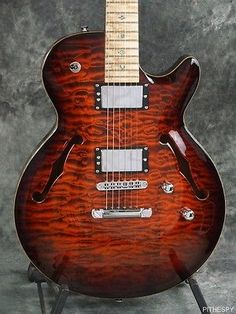 CARVIN SH550 SEMI HOLLOW CARVED TOP JAZZ GUITAR QUILTED MAPLE 6 STRING WITH CASE