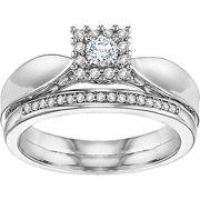 1/4 CT. T.W. Diamond Princess Bridal Set in Sterling Silver  $298.00