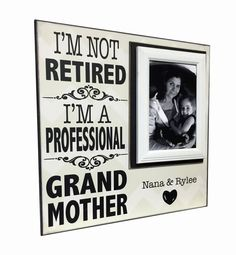 Professional Grandmother  Picture Frame For by MemoryScapes