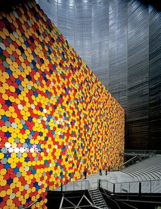 The Wall  by Christo and Jeanne Claude | Gasometer Oberhausen, Germany 1998-99