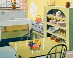 Vintage Kitchen On The Cover Of Better Homes U0026 Gardens Magazine, November  1930