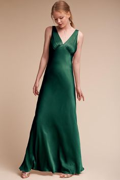 Emerald Sea Luster Dress | BHLDN