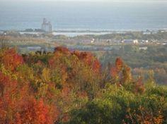 Fall Colours -  Blue Mountain, overlooking Collingwood, Ontario (near the farm)