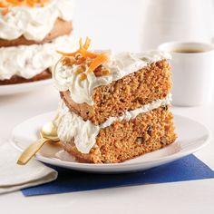 Gâteau aux carottes allégé - Les recettes de Caty 200 Calories, Carrot Cake, Tiramisu, Carrots, Biscuits, Cooking Recipes, Snacks, Healthy, Ethnic Recipes