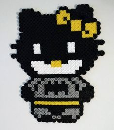 Hello Kitty Super Hero Perler Beads by NeonSkiesDesigns on Etsy