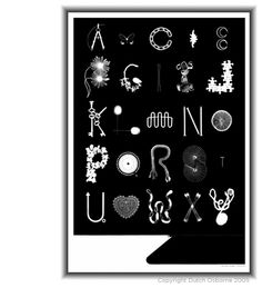 Photogram Alphabet