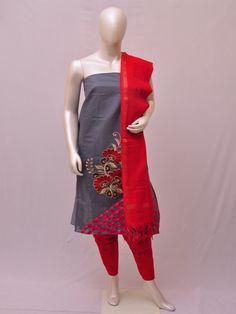 Cotton Woven Designer Dress Material [D10332443] | Pochampally Saree House