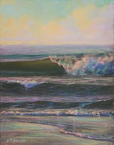 I could watch the waves forever! Pastel by Joe Mancuso--amazing artwork!