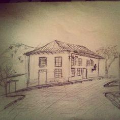 Casarão em cena - Ouro Preto  #Architecture #arquitetura #croqui #barroco #drawing #desenho #OuroPreto #Minas #MinasGerais