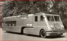 'Post Telegraph Telephone' - 1952 Dutch mobile Post Office based on a 4x4 DAF model with front drive from a military DAF YA 318 and trailer from a converted 1948 Dutch Railways 'Noodbus'.