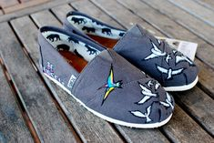 BE YOURSELF custom handpainted TOMS shoes by BStreetShoes on Etsy, $149.00