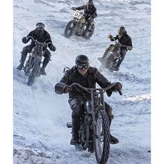 This is what the hipster commute to church tomorrow is going to look like in Nashville. (Photo via the brilliant by jonacuff Vintage Indian Motorcycles, Vintage Bikes, Valentino Rossi, Custom Bobber, Custom Bikes, Ride The High Country, Vincent Black Shadow, Bike Engine, Adventure Gear