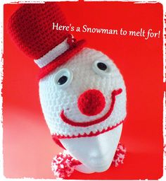 Connie's Spot© Crocheting, Crafting, Creating!: Free Crochet Snowman, Mr. Grinch & Blue's Clue Hat...