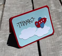 Airplane Theme Boys Baby Shower - Airplane Thank You Cards Set of 10 by SimpleSensations on Etsy, $18.00