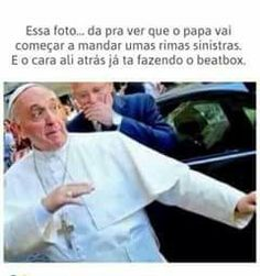 Pope about to drop a dope freestyle with his homie beatboxing Memes Humor, Jokes, Ghetto Red Hot, Funny Images, Funny Pictures, Freestyle, Marvel, Life Pictures, Thug Life