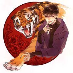 OSOMATSU-SAN, Fanart, Ichimatsu with tiger
