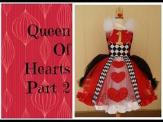 HOW TO: Make a Queen of Hearts Tutu Dress by Just Add A Bow Part 2 - YouTube