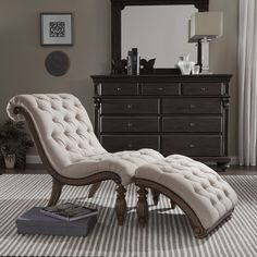 2-Piece Auster Tufted Chaise & Ottoman Set