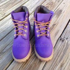 Purple Timberland Boots Womens' Sizes by FlowerSourDiesel on Etsy Purple Timberland Boots, Timberland Waterproof Boots, Timberland Boots Women, Timberland Outfits, Timberlands Shoes, Timberland Clothing, Grunge Style, Soft Grunge, Tokyo Street Fashion