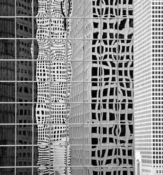 Building Reflections - black & white patterns in architecture