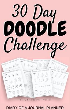 In just 30 days become a doodle pro, with this brilliant 30-day doodle challenge with new doodle tutorials to try out everyday. #doodle #doodlechallenge #doodling #Planneraddict #howtodraw Easy Doodles Drawings, Easy Doodle Art, Cool Doodles, You Doodle, Simple Doodles, Doodles Zentangles, Doodle Ideas, Doodle For Beginners, Bujo Doodles