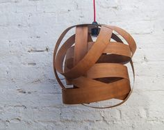 Random Large lampshade cherry wood by Randomlights on Etsy, £120.00