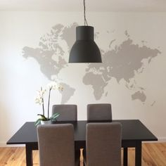 DIY mappemonde murale - peindre une carte du monde sur son mur - world map on the wall - www.pierrepapierciseaux.be