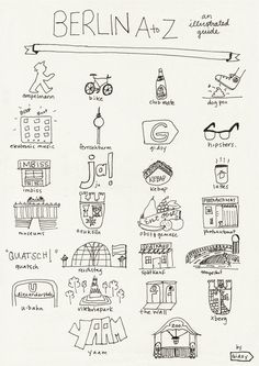 gidsy: Berlin from A-Z, an illustrated guide.