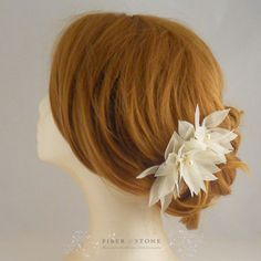 Hey, I found this really awesome Etsy listing at https://www.etsy.com/listing/76305625/pure-silk-bridal-headpiece-bridal-flower
