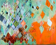 BARBARA GILHOOLY : RECENT PAINTINGS : Abstract I love the diamonds and countless color variations!